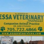 outside sign Essa Veterinary Services Barrie